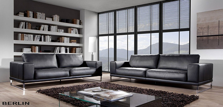 ledersofa couchgarnitur berlin. Black Bedroom Furniture Sets. Home Design Ideas