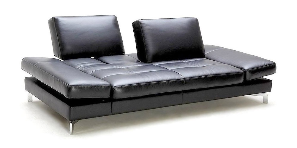 ledersofa schwarz. Black Bedroom Furniture Sets. Home Design Ideas
