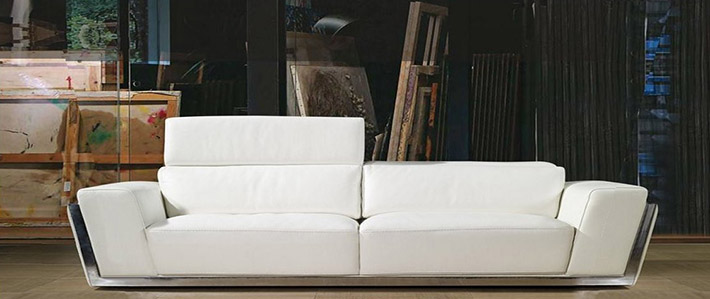 Ledersofa Italienisch design sofa in leder anthea